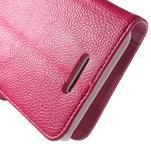Koženkové pouzdro pro Sony Xperia E4 - rose - 5/7