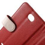 Koženkové pouzdro pro Sony Xperia E4 - červené - 5/7