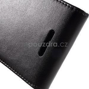 Flipové pouzdro na mobil Sony Xperia E4 - černé - 5