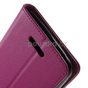 PU kožené peněženkové pouzdro na Sony Xperia E4 - rose - 5