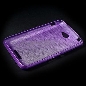 Broušený gelový obal pro Sony Xperia E4 - fialový - 5