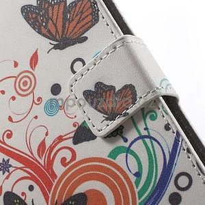 Peněženkové pouzdro na Sony Xperia E4 - barevní motýlci - 5