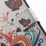 Peněženkové pouzdro na Sony Xperia E4 - barevní motýlci - 5/7