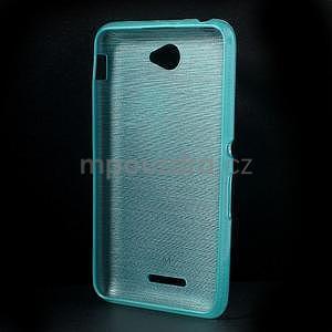 Broušený gelový obal pro Sony Xperia E4 - tyrkysový - 5