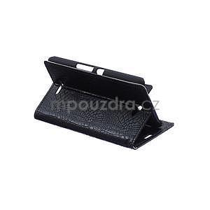 Pouzdro s krokodýlím vzorem na Sony Xperia E4 - černé - 5