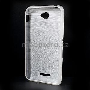 Broušený gelový obal pro Sony Xperia E4 - bílý - 5