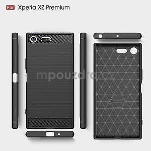 Carbon odolný gelový obal na mobil Sony Xperia XZ Premium - černý - 5
