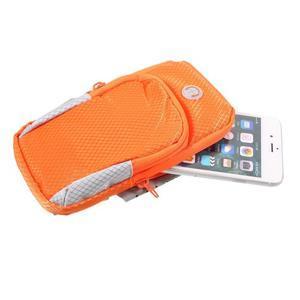 Zippy univerzální sportovní taštička na ruku pro telefony do rozměru 157 x 77 mm - oranžová - 5