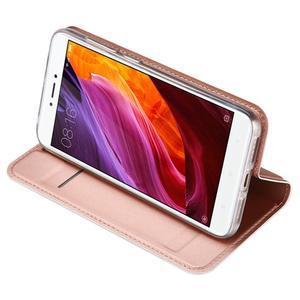 DUX luxury PU kožené pouzdro na Xiaomi Redmi 4X - růžovozlaté - 5