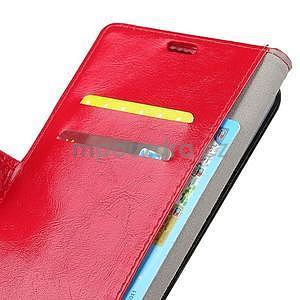Crazy PU kožené zapínací pouzdro na Xiaomi Redmi Note 5A Prime - červené - 5