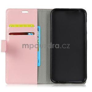 Crazy PU kožené zapínací pouzdro na Xiaomi Redmi Note 5A Prime - růžové - 5