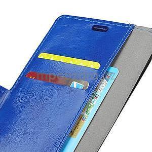 Crazy PU kožené zapínací pouzdro na Xiaomi Redmi Note 5A Prime - modré - 5