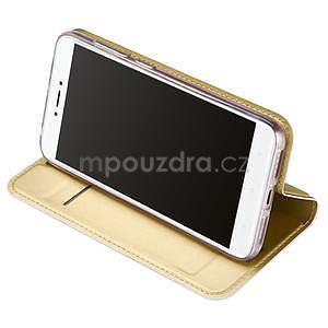 DUX PU kožené klopové pouzdro na Xiaomi Redmi Note 5A - zlaté - 5