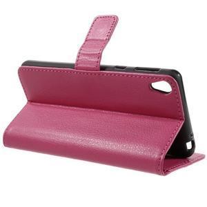 Leathy PU kožené pouzdro na Sony Xperia E5 - rose - 5