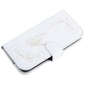 Motýlkové PU kožené pouzdro na mobil Sony Xperia E5 - bílé - 5