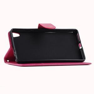 Motýlkové PU kožené pouzdro na mobil Sony Xperia E5 - rose - 5