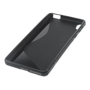 S-line gelový obal na mobil Sony Xperia E5 - černý - 5
