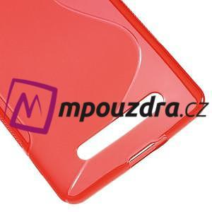 S-line gelový obal na mobil Xiaomi Mi4c/Mi4i - červený - 5