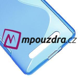 S-line gelový obal na mobil Xiaomi Mi4c/Mi4i - modrý - 5