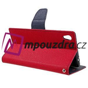 Diary PU kožené pouzdro na mobil Sony Xperia XA Ultra - červené - 5