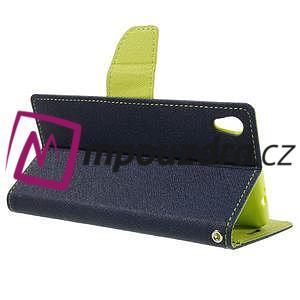 Diary PU kožené pouzdro na mobil Sony Xperia XA Ultra - tmavěmodré - 5