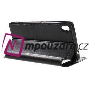 Richi PU kožené pouzdro s okýnkem na Sony Xperia XA Ultra - černé - 5