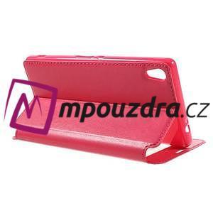Richi PU kožené pouzdro s okýnkem na Sony Xperia XA Ultra - rose - 5