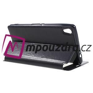 Richi PU kožené pouzdro s okýnkem na Sony Xperia XA Ultra - tmavěmodré - 5