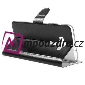 Horse PU kožené pouzdro na Asus Zenfone 3 Deluxe - černé - 5