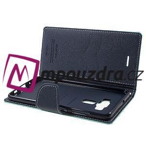 Diary PU kožené pouzdro na mobil Asus Zenfone 3 Deluxe - azurové - 5