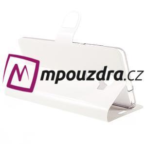 Horse PU kožené pouzdro na Asus Zenfone 3 Deluxe - bílé - 5