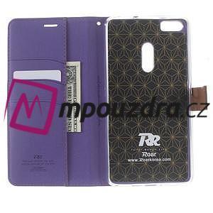 Diary peněženkové pouzdro na mobil Asus Zenfone 3 Ultra - fialové - 5