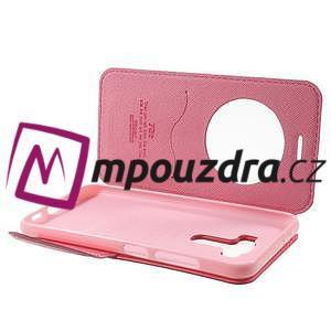 Diary pouzdro s okýnkem na mobil Asus Zenfone 3 ZE520KL - rose - 5