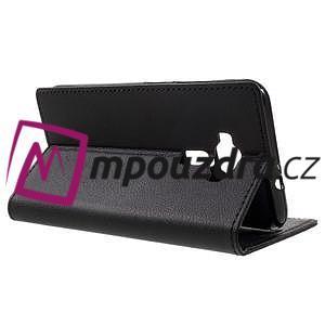 Leathy peněženkové pouzdro na Asus Zenfone 3 ZE520KL - černé - 5
