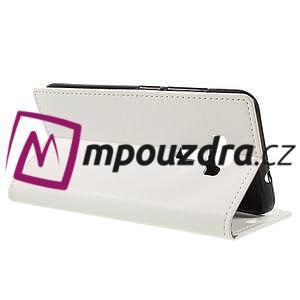 Leathy peněženkové pouzdro na Asus Zenfone 3 ZE520KL - bílé - 5