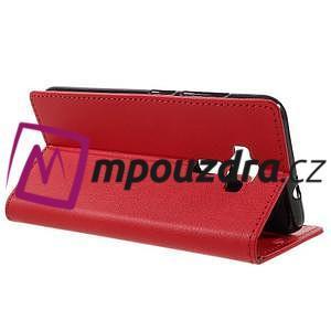Leathy peněženkové pouzdro na Asus Zenfone 3 ZE520KL - červené - 5
