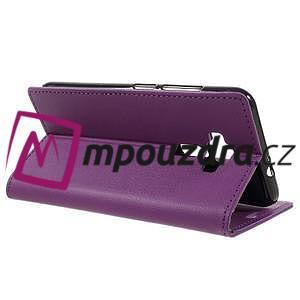 Leathy peněženkové pouzdro na Asus Zenfone 3 ZE520KL - fialové - 5