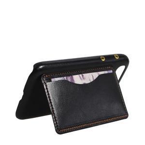 PU kožený kryt se stojánkem na BlackBerry Classic - černé - 5