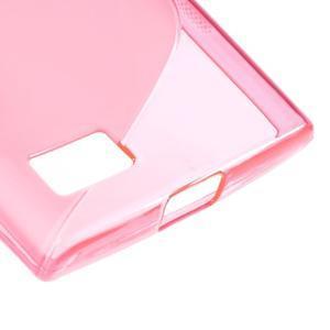 S-line gelový obal na mobil BlackBerry Leap - rose - 5