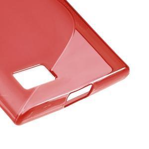S-line gelový obal na mobil BlackBerry Leap - červený - 5