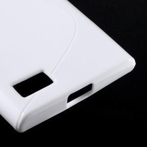 S-line gelový obal na mobil BlackBerry Leap - bílý - 5