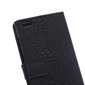 Croco style peněženkové pouzdro na BlackBerry Leap - černé - 5