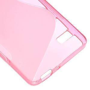 S-line gelový obal na mobil Honor 4C - rose - 5