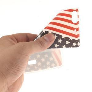 Gelový obal na mobil Honor 4C - americká vlajka - 5