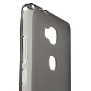 Matný gelový obal na mobil Honor 5X - šedý - 5