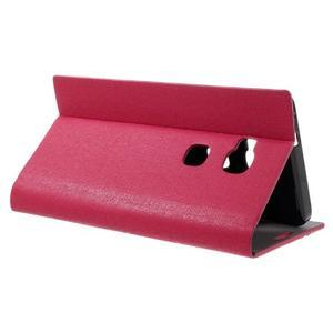 Klopové PU kožené pouzdro na Huawei Honor 5X - červené - 5