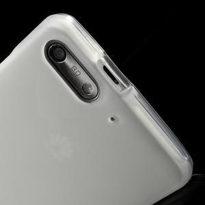 Matné gelové pouzdro na Huawei Ascend G6 - bílé - 5