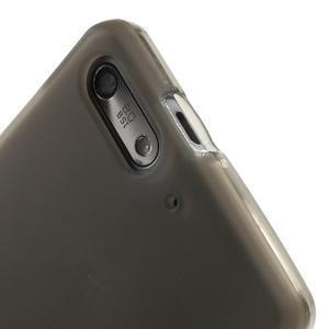 Matné gelové pouzdro na Huawei Ascend G6 - šedé - 5