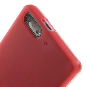 Matné gelové pouzdro na Huawei Ascend G6 - červené - 5