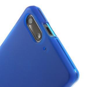 Matné gelové pouzdro na Huawei Ascend G6 - modré - 5